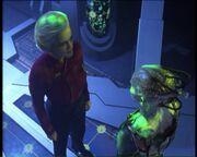 Janeway et la Reine Borg