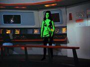Kara appears on the bridge