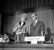 Lucille Ball and Oscar Katz