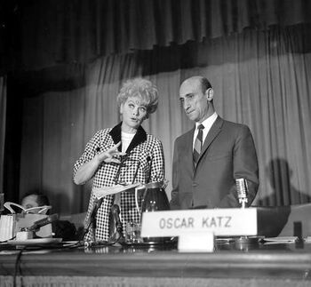 Lucy Ball with her Vice-President in Charge of Production, Oscar Katz