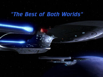 The Best of Both Worlds title card