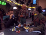 Julian Bashir, Quark, and Elim Garak, 2371