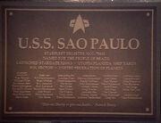 Sao Paulo-plaque