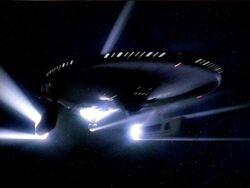 USS Bozeman emerges from a temporal causality loop