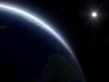 Bynaus from orbit