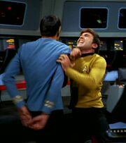Chekov attacks Spock