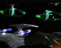 Die Klingonen enttarnen sich