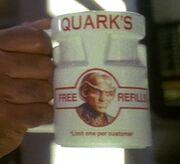 Quark's branded mug