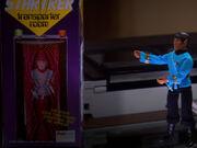 Spock-Figur und Transporterspielzeug