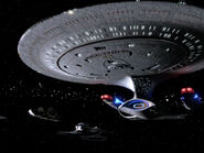 USS Enterprise-D at Qualor II, remastered