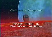 Computer Graphics in Star Trek II; The Wrath of Khan title card
