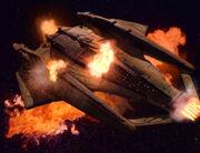 Die doppelte Voyager explodiert