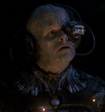 P'Chan as a Borg drone