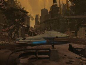 Voyager on the Vaadwaur homeworld.jpg
