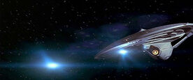 Enterprise-E firing quantum torpedoes