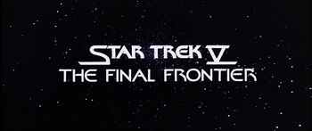 Title card for Star Trek V: The Final Frontier