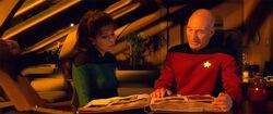 Troi comforts Picard