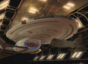 USS Voyager in drydock
