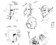 Early DS9 make up sketches