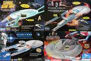 Playmates USS Enterprise TOS B and E