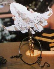 Revell-Monogram Maquis raider model as Teero Anaydis's display model
