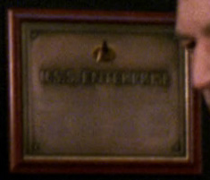 Richard McKenzie on the <i>Enterprise</i> dedication plaque