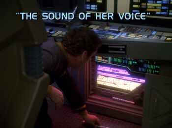 The Sound of Her Voice title card