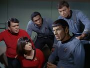 Spock jettisons the Galileo's fuel