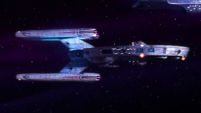 USS Stargazer von steuerbord