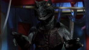 A mirror universe Gorn on the USS Defiant (2155)