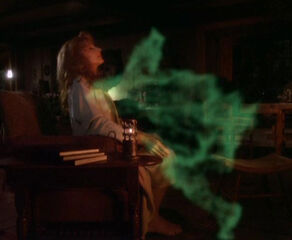 Non-corporeal anaphasic lifeform entering Beverly Crusher's body.