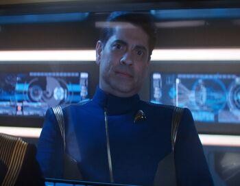 ...as Captain Diego Vela