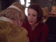 Kira Nerys comforts Winn Adami