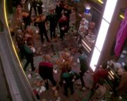 DS9 Promenade infested with tribbles