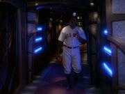 Ein Baseballspieler auf Deep Space 9