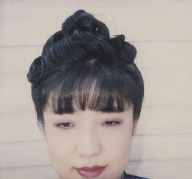 "Suzuki on a hair and makeup continuity Polaroid for ""Descent"""