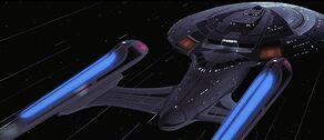 USS Enterprise-E at warp