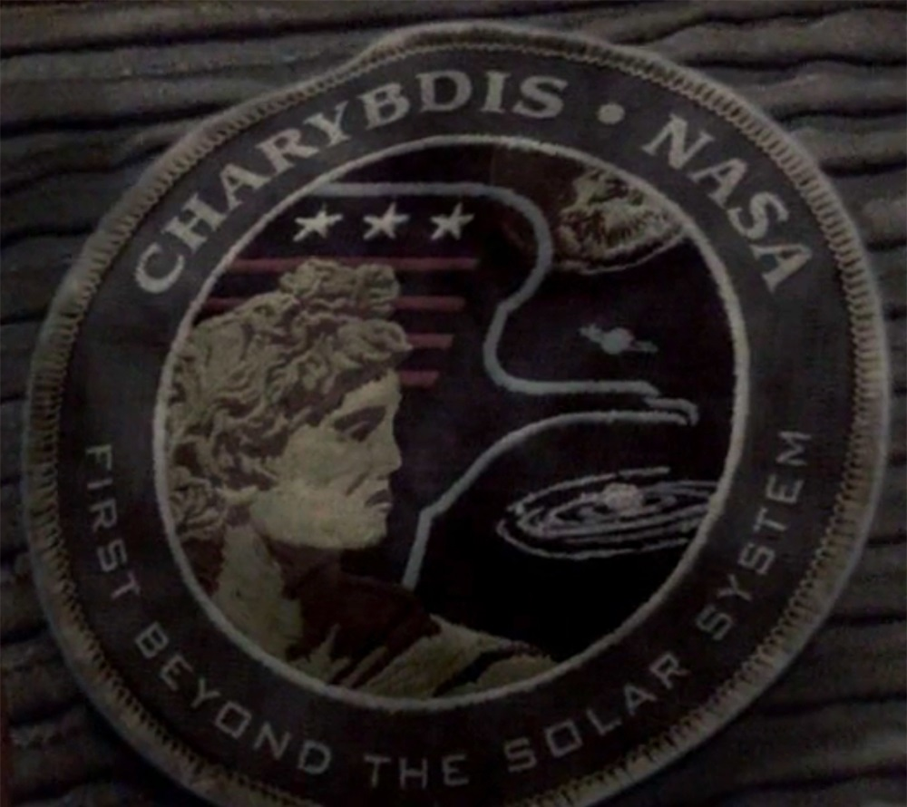 The mission patch of the Charybdis