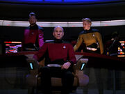 Picard in Alternate Timeline Enterprise-D Captain's Chair