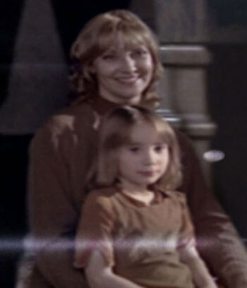 Young Bernadette Fuller and her mother, Vera