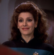 Deanna Troi, promoted to commander
