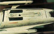 USS Nash studio model, dorsal view