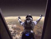 B'Elanna Torres springt aus Shuttle
