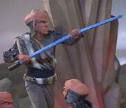 Ferengi whip, extended