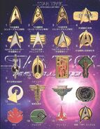 Furuta Star Trek Pins Collection