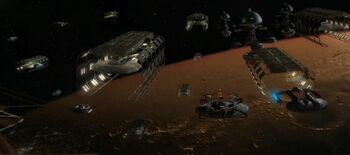 "The Utopia Planitia Fleet Yards, orbital construction facilities, <a href=""/wiki/2371"" title=""2371"">2371</a>"