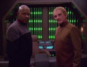 Benjamin Sisko and Odo, 2375