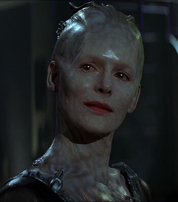 The Borg Queen in 2373