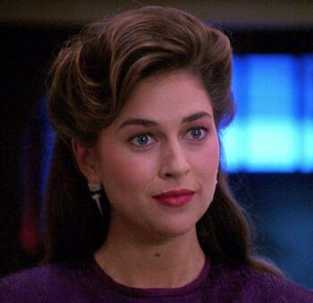 Dr. Leah Brahms in 2367