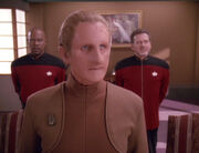 Sisko, Odo, and Leyton